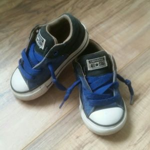 Baby boys Converse All Star slip-on shoes blue 6